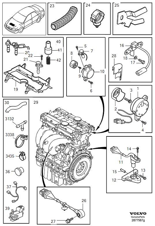 2000 Volvo S40 Engine Camshaft Position Sensor  Control