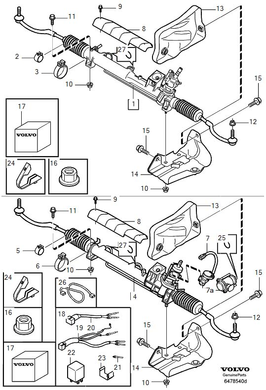2003 Volvo S80 Rack And Pinion  Pcs  Order  Steering
